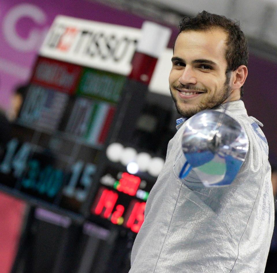 Luca Curatoli, sciabola maschile (foto BIZZI)