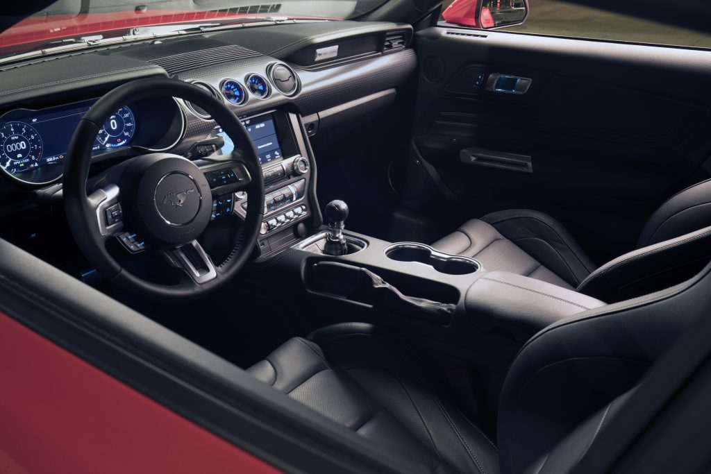 Interno della Mustang GT Performance Pack Level 2