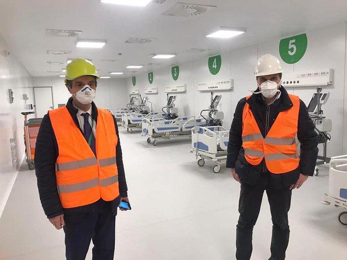 inaugurato ospedale Fiera Milano