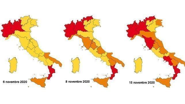 Spostamenti regioni gialle