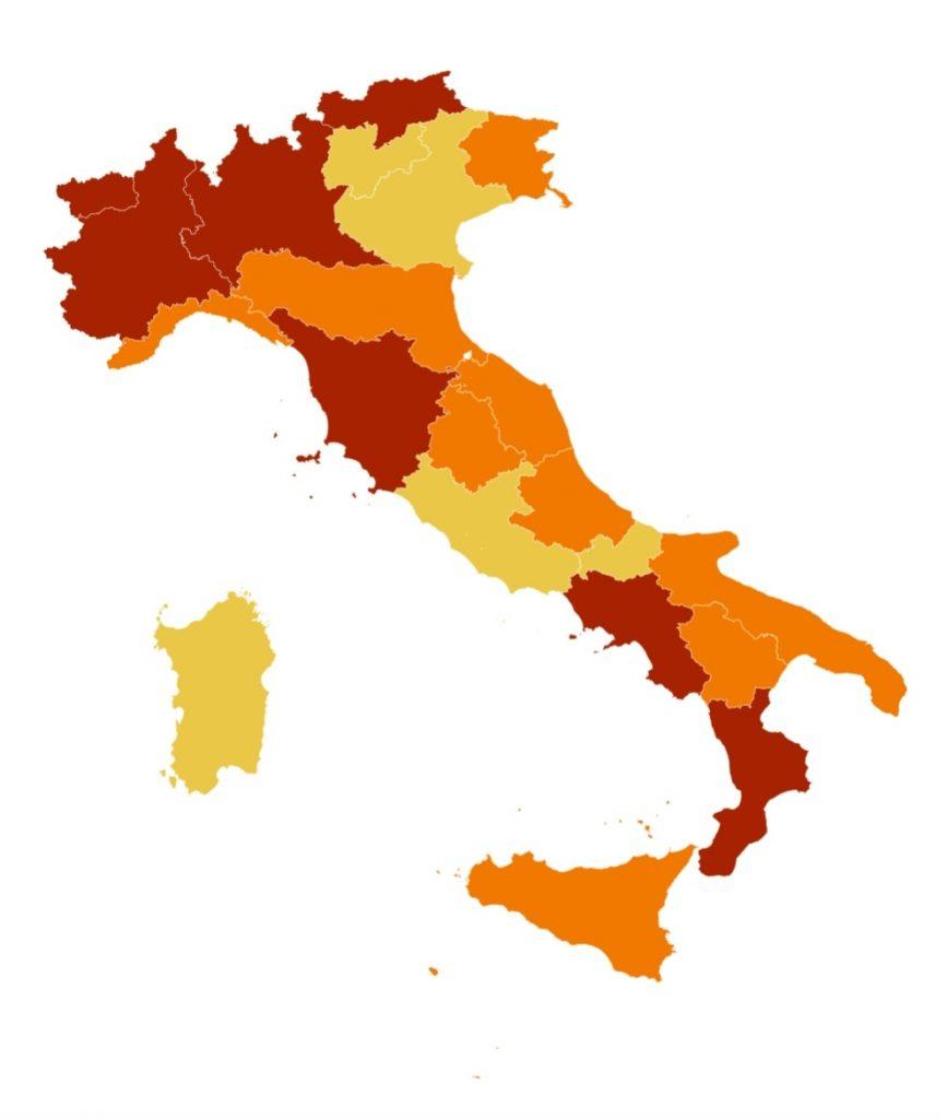 campania toscana zona rossa