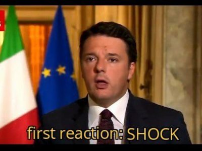 """First Reaction, Shock"", il video virale di Renzi in versione Techno"