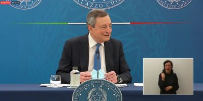 """Zona gialla, Draghi: """"Il Governo ha preso un rischio calcolato"""""""