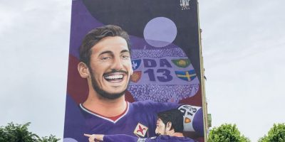 Fiorentina, inaugurato il murale dedicato al capitano Davide Astori