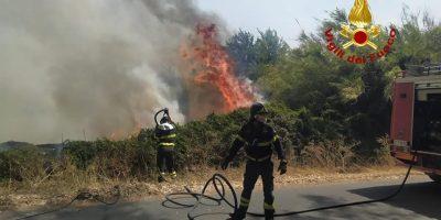 Incendio nell'Oristanese: danni incalcolabili e investigatori all'opera