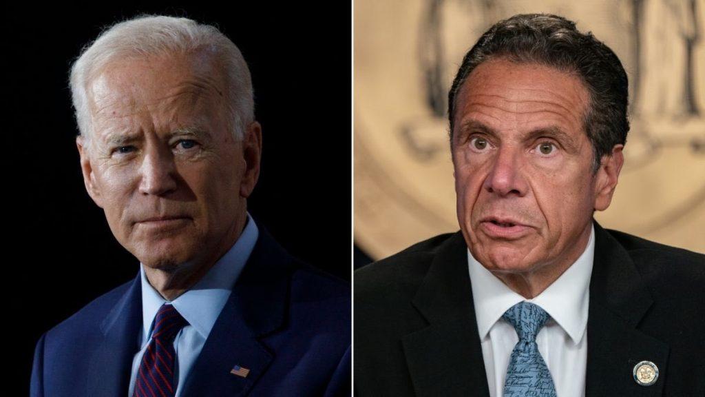 Da sinistra Joe Biden e Andrew Cuomo